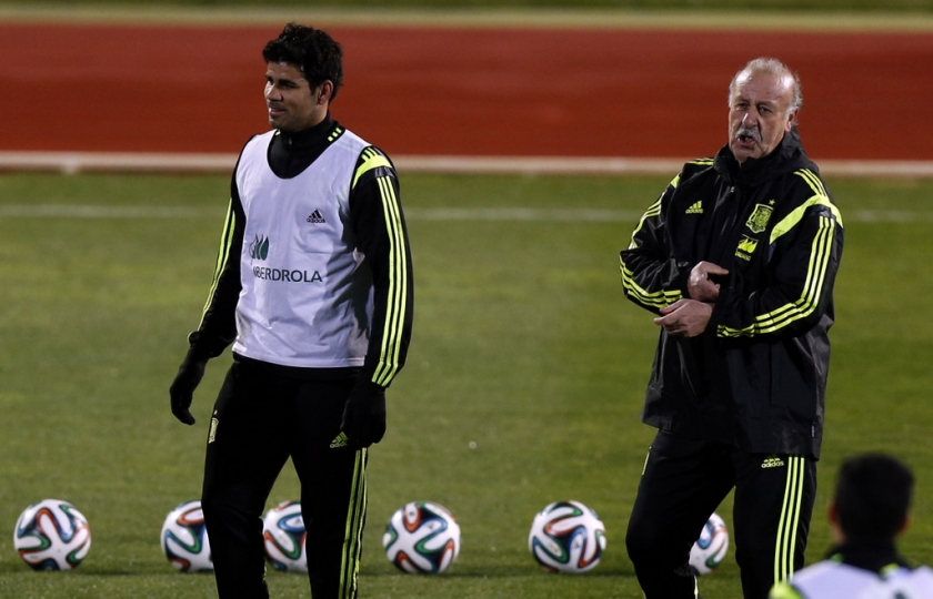 Diego Costa en Vicente del Bosque